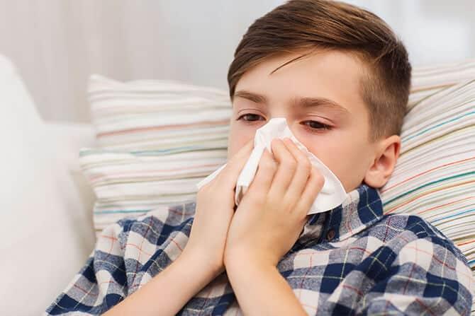Familie erkältet
